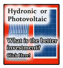 Hydronic Solar versus Photovoltiac Solar. the answer might surprise you